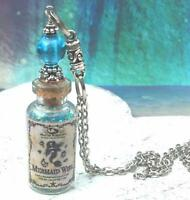 Mermaid Wish Necklace Glass Bottle Pendant Potion Sea Scales Harry Potter Inspir