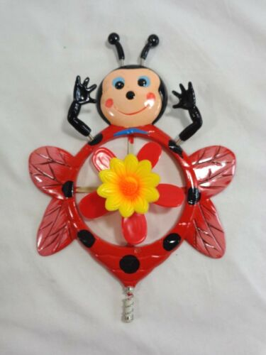 """GARDEN BUG Yard Stake with Rotating Center 30/"""" Plastic"""