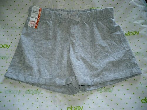 Wonder Nation Girls Pull On Rolled Cuff Shorts Size Medium 7-8 Gray New