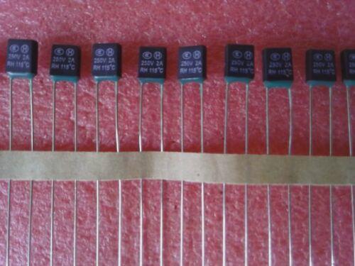 TZ-P115//2 NEU 2A 250V 10 x Thermische Sicherung