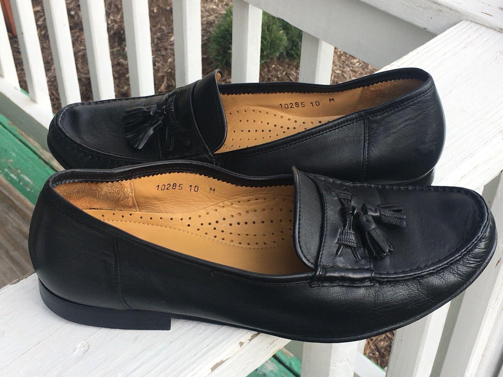 prezzi più convenienti Magnanni Uomo scarpe Dimensione 10M Genuine Leather Leather Leather nero Loafers Made In Spain Quality  varie dimensioni