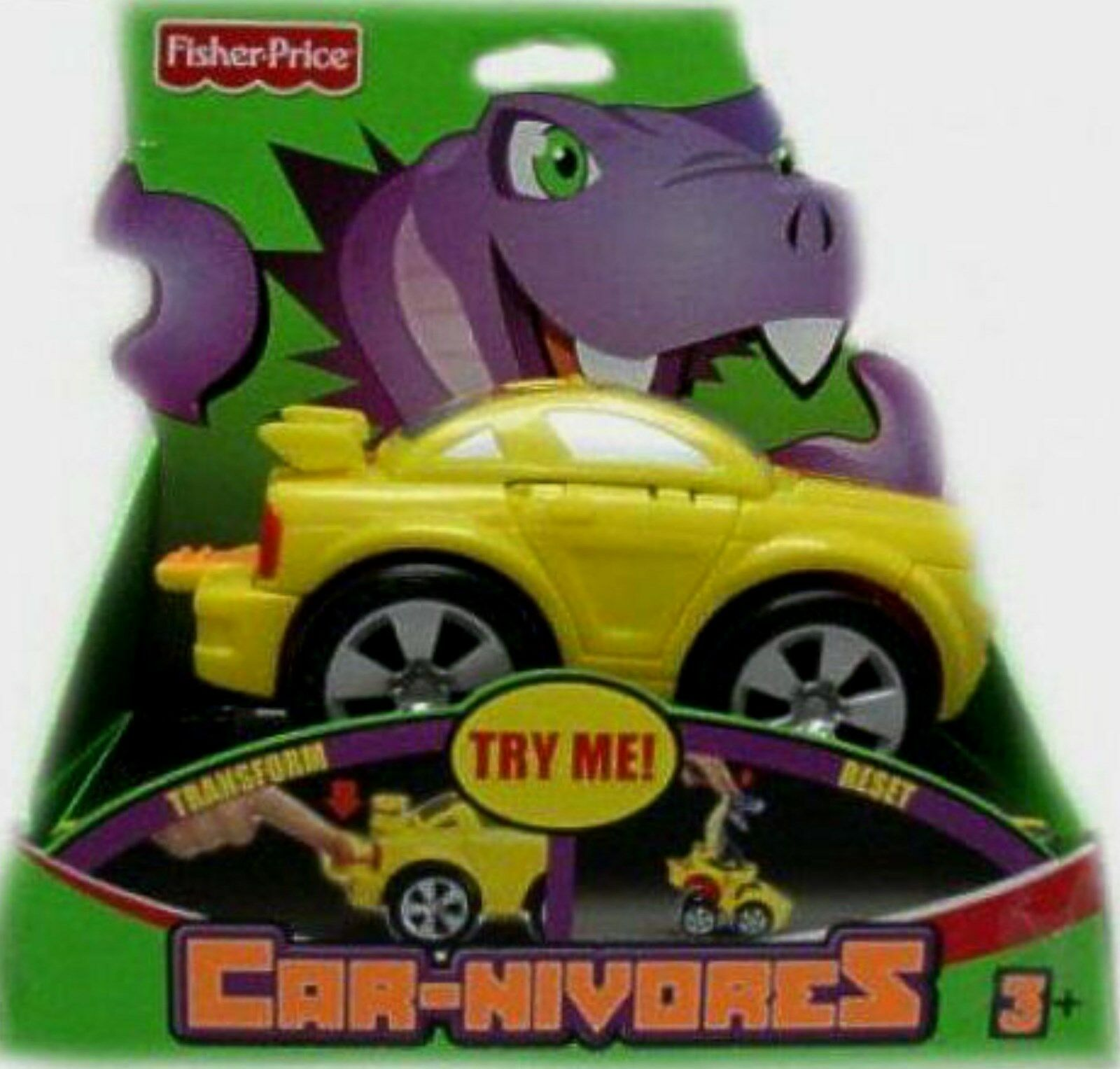 Car-nivores Corbra Transforning Car Fisher-price New Factory Sealed