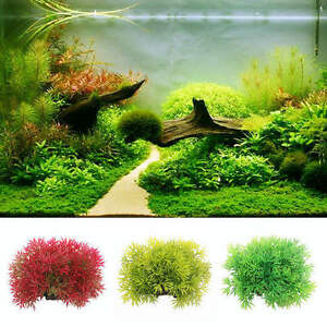 Water Grass Plastic Water Plant for Aquarium Fish Tank Ornament Decoration JKHWC