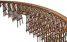 JV Models-Curved Wood Trestle -- Kit - N