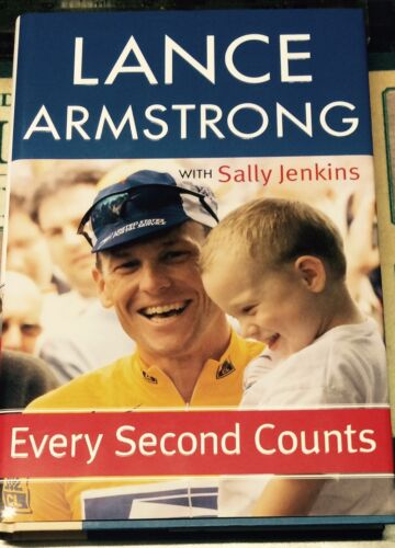 7 TIMES TOUR DE FRANCE CHAMPION LANCE ARMSTRONG SIGNED BOOK