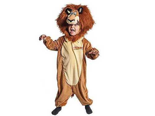 Costume Madagascar leone M 5-7 anni Vestito carnevale Joker JC059-002