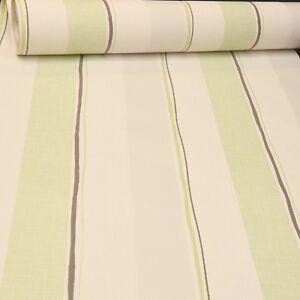 Image Is Loading Light Green Stripe Grey White Textured Vinyl Wallpaper