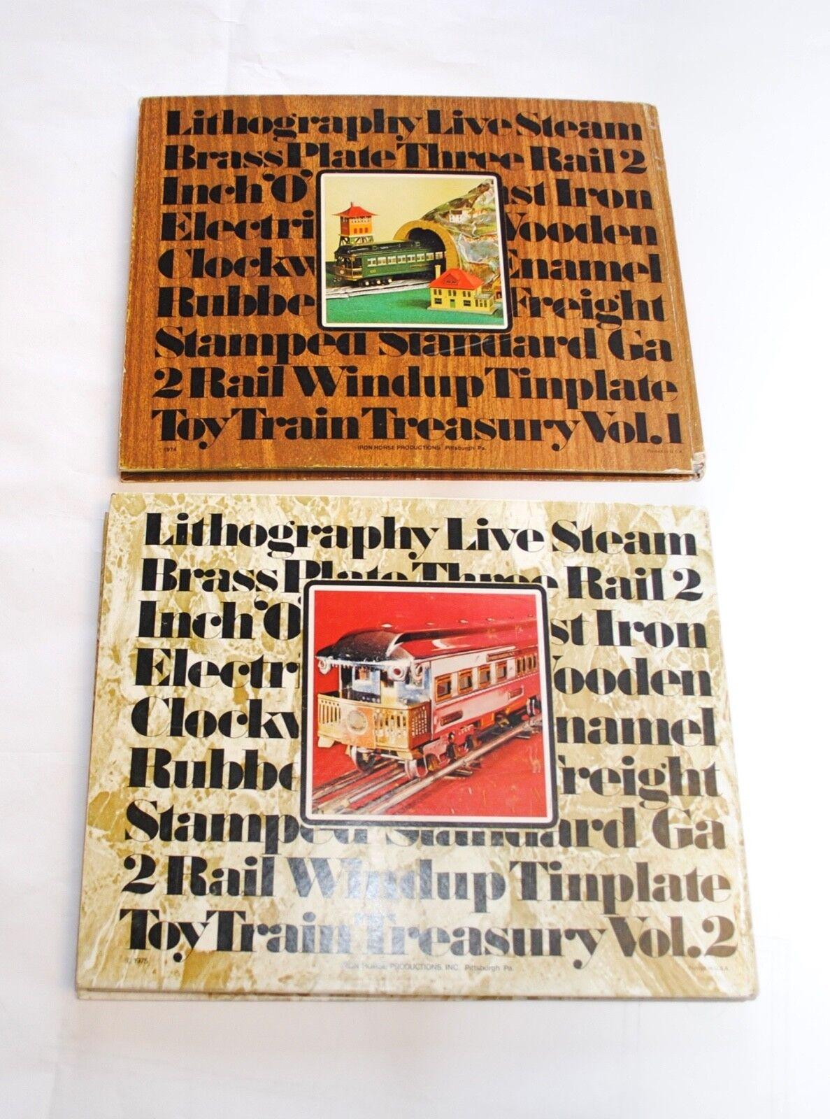 Lot of 2 Toy Train Treasury Volume 1 and 2 Hardcover Books Glenn A. Feech Signed