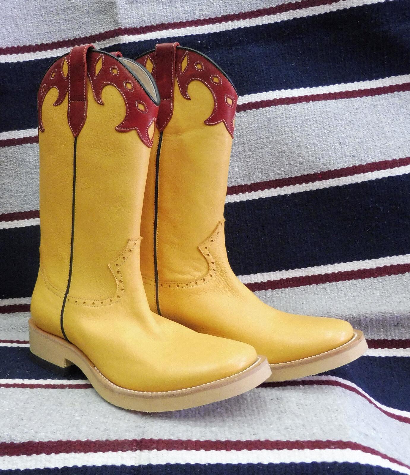 A212 Stivali stivale roper texani country monta western cowboy BARKLEY giallo 42