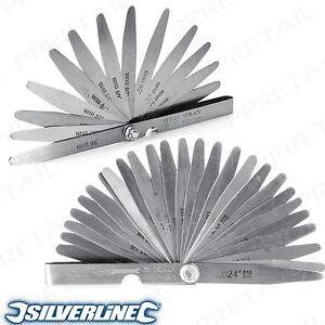 26 Blade Offset Bent Feeler Gauge Metric Imperial Measurements Dual Marked