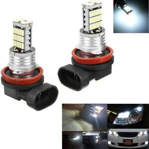 2x-H11-H8-H9-45SMD-LED-LAMPADE-NO-ERROR-LUCE-AUTO-DRL-FENDINEBBIA-CANBUS-6000K