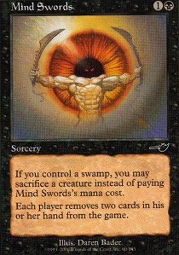 4x Mind Swords MTG Nemesis NM Magic Regular