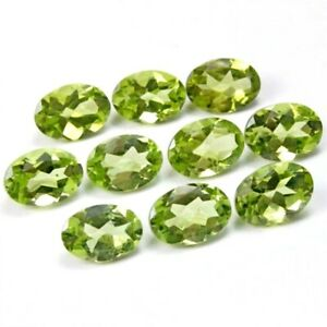 Wholesale-Lot-of-7x5mm-Oval-Facet-Cut-Natural-Peridot-Loose-Calibrated-Gemstone