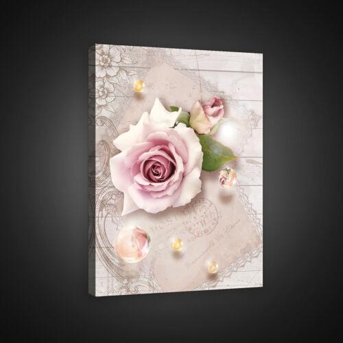 CANVAS Wandbild Bild Leinwandbild Rose Rosen Blumen Kunst Kugeln Gold  14N2270O1