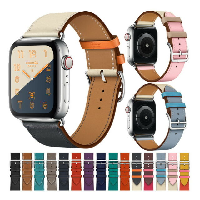 Bandkin Repalcement Single Tour Genuine Leather For Apple Watch Band Series 4 3