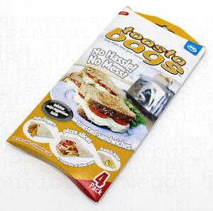 GENUINE-JML-034-Toastabags-034-Re-Usable-Sandwich-Toastie-Toast-Toaster-Bags-4-PACK