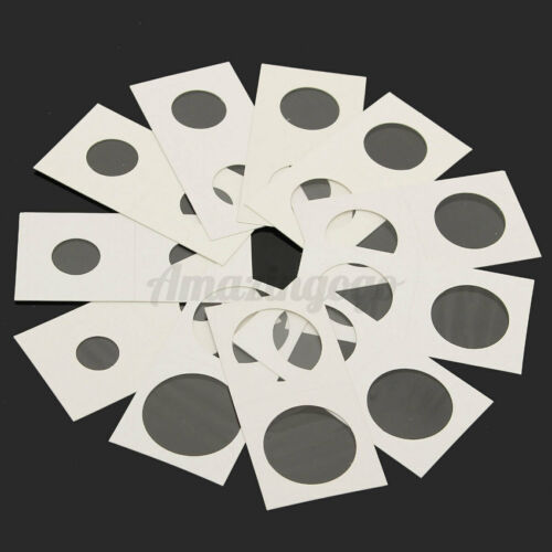 50Pcs Assorted Non Self Adhesive Stamp Coin Holders Cardboard Storage Paper Case
