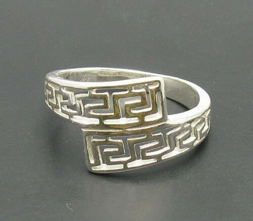 Stylish Sterling Silver Ring Solid 925 méandres Taille 3.5-10 Empress R000056