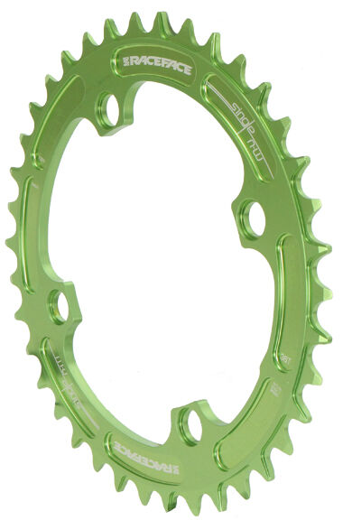 Race Face Single Narrow Wide 1x MTB Chainring - 104mm BCD 38t Green