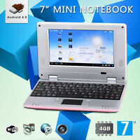 7 Inch 4gb Pink Android 4.0 Mini Notebook Laptop Wifi Computer Pc Kids