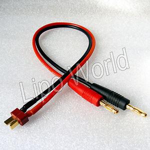 4mm-Bananenstecker-zu-Deans-T-Stecker-Ladekabel-imax-Adapter-Modellbau-LiPo-Akku