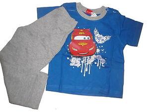 NEU-toller-Schlafanzug-Gr-86-92-blau-grau-mit-Cars-Motiv