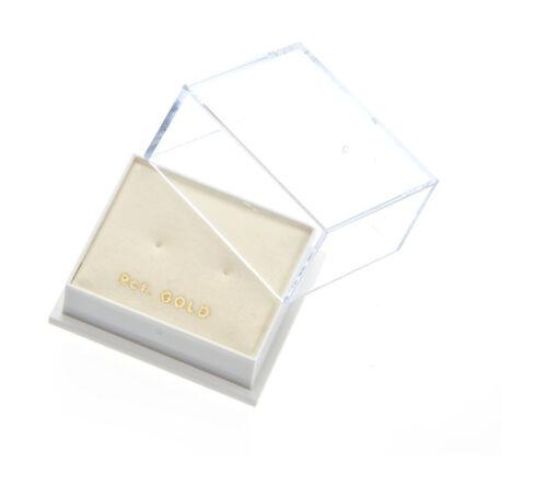 Oro Amarillo 9ct 6mm oscuro Peridoto Cubic Zirconia CZ Studs//pendientes//Caja