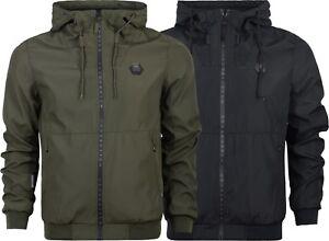 New-Mens-Crosshatch-Hooded-Jacket-Genuine-Hoodie-Zipped-Wind-Breaker-S-XXL
