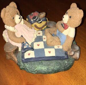 CAROLYN-CARPIN-VINTAGE-Figurines-Storybook-Collection-Bears-on-a-Picnic-bonus