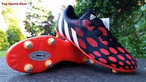 Adidas Boys Predator® Absolado Instinct SG Football Rugby Boots Black  Red 4 - 5