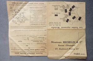 Michelin-Demande-d-039-Itineraires-gratuit-annee-1930-Les-Guides-Regionaux