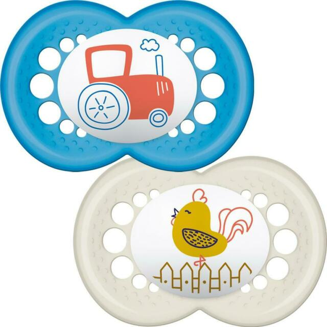 Pack of MAM Original Soothers Suitable 12 Months with Sterilisable Travel Case