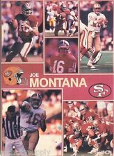 MONSTER POSTER: NFL FOOTBALL - JOE MONTANA - SF 49'RS - #PW-SLMP-JM    RAP113 B