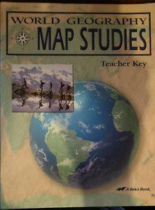 A beka abeka book world geography map studies teacher key ebay image is loading a beka abeka book world geography map studies gumiabroncs Image collections