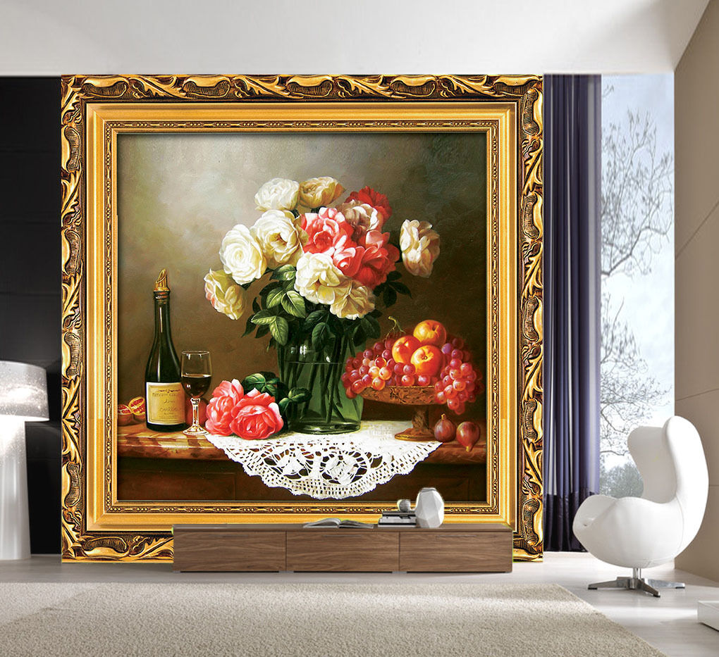 3D Flower Painting 87 Wallpaper Mural Paper Wall Print Wallpaper Murals UK Lemon
