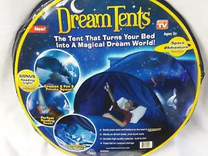 low priced 85a18 ebd72 Details about Boys Dream Tents Space Adventure Pop Up Twin Bed Playhouse as  seen on tv