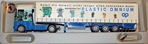 Renault AE Magnum Pritschen-Planen-Sattelzug SÖLLNER Plastic Omnium 1:87 Albedo