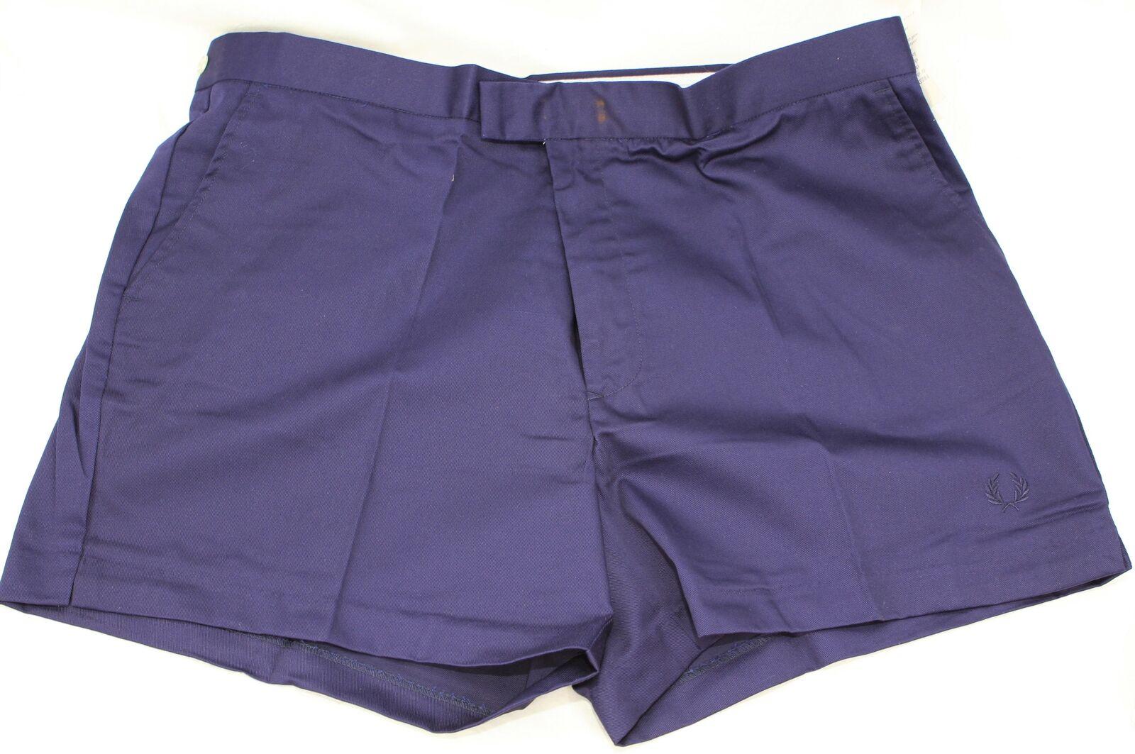 332fd68f1a8bd9 UNWORN Vintage 70s FRED PERRY Tennis SHORTS 44 112 cm 208 Y bluee Navy  nwdmpy21538-Shorts