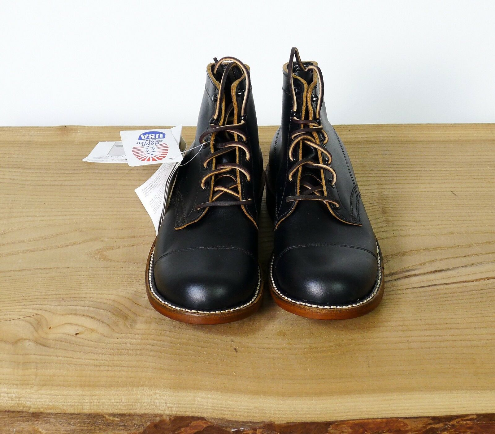 White's original Crome Excel Black Toe Cap Boots. NEW IN BOX (Various Sizes)