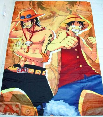 One Piece Luffy D.Ace Anime Manga bettlaken Spannbetttücher 150x210cm Neu