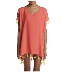 bf5bda97d8462 Details about NWT Women's Coral Lilly CHELSEA & THEODORE Beach Cover Up  Size Large L