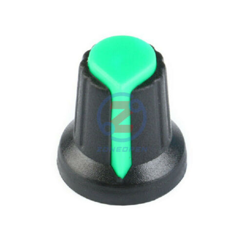 Six 6 Color 6mm WH148 AG2 A-2 Knob Face Plastic Hat Rotary Taper Potentiometer