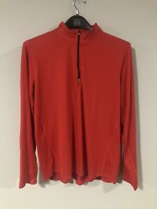 Kirkland-Signature-Men-039-s-Active-1-4-Zip-Pullover-Red-Size-XX-Large-Athletic-XXL