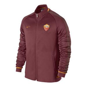 nike as roma lu jacket 2015 2016 soccer brand new maroon. Black Bedroom Furniture Sets. Home Design Ideas