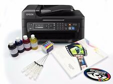 None OEM Sublimation Transfer Printer Epson WF-2630 + Refill Carts + Ink + Paper