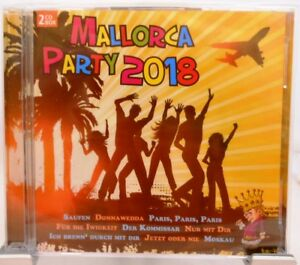 Majorque-Party-2018-2-CD-set-36-Hits-avec-humeur-Garantie-ohrwurmer-FETE