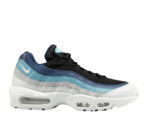 95c4f6ab4f2 NIKE AIR MAX 95 ESSENTIAL PURE PLATINUM-BLACK-NAVY BLUE SZ 8  749766 ...