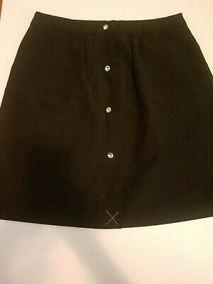 Skirts Talbots Peitie Size 10p Skirt Black Front Jeweled Buttons Wear To Work Cocktail