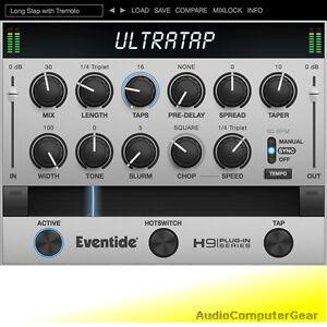 Eventide-ULTRATAP-Multi-tap-Delay-Plug-in-Ultra-Tap-Audio-Software-Effect-NEW