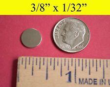 "25 Pack - Neodymium Rare Earth Magnets 3/8""x1/32"""